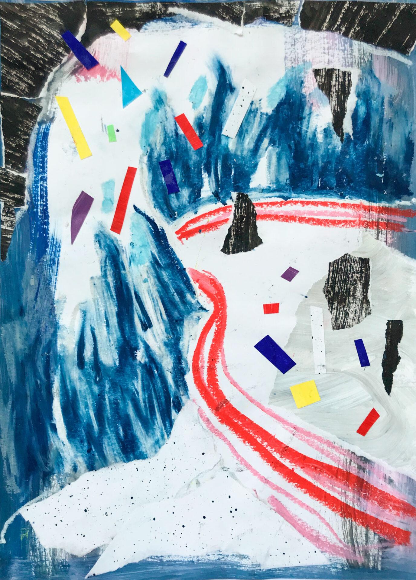 """Collage mit dem Titel """"Die Kurve geht um den Hut herum"""" 2019 Lisa Breyer"""
