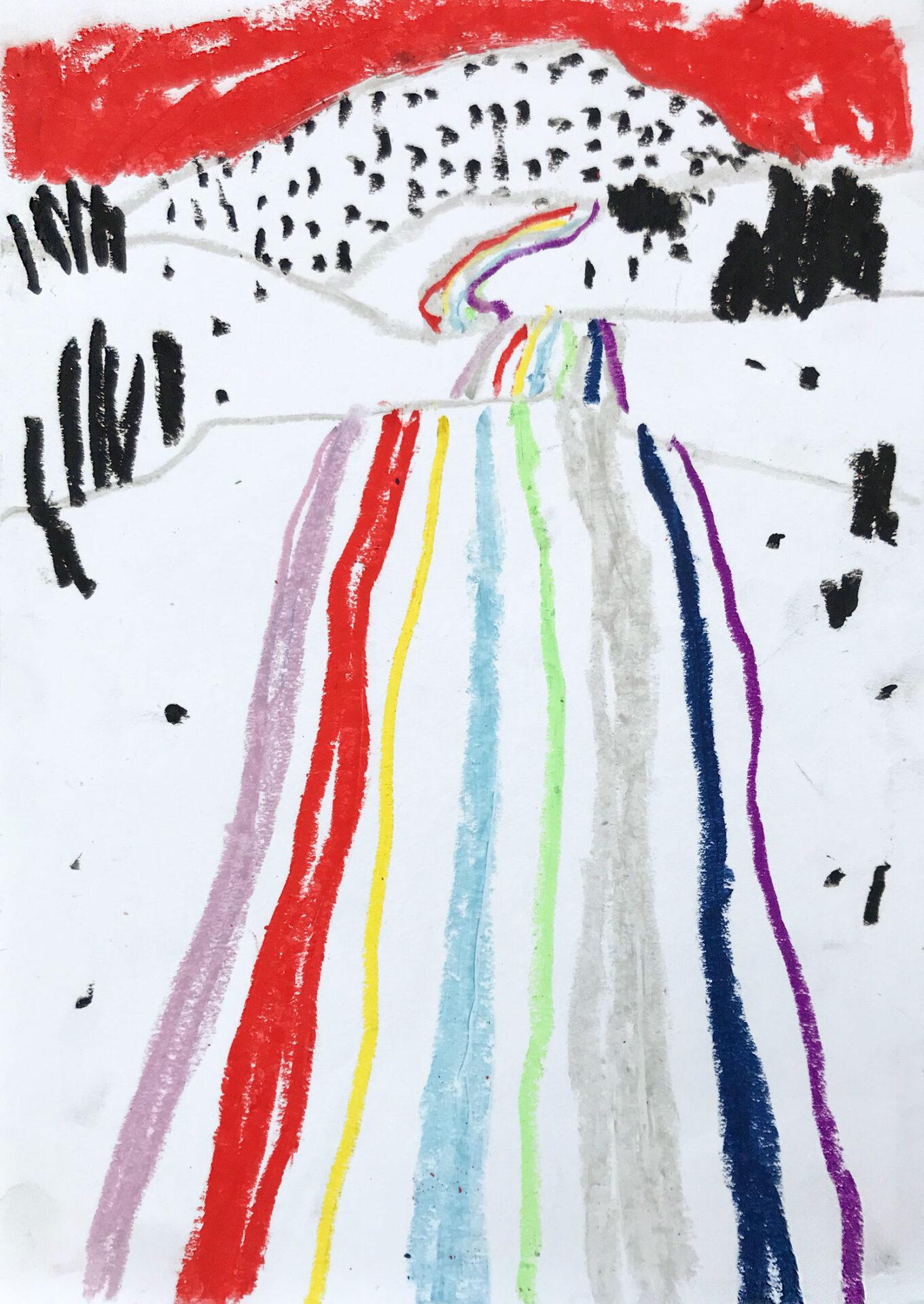 """Zeichnung mit dem Titel """"Nicht Nach Zürich"""" 2019 Lisa Breyer"""