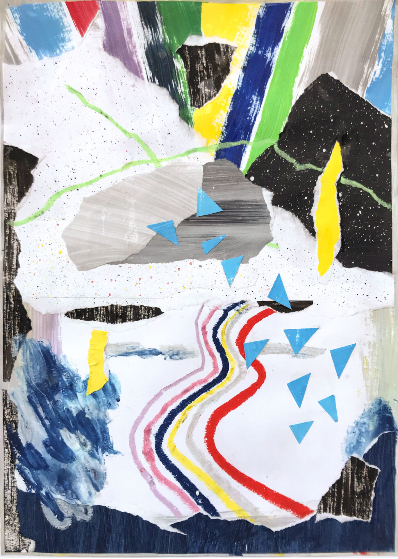 "Collage mit dem Titel ""Space Mountain"" 2019 Lisa Breyer"