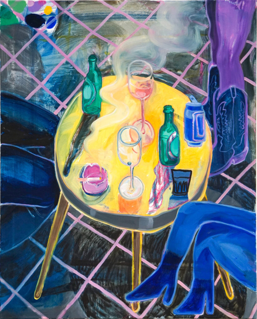 At Night, oil stretched canvas, 100 x 80 cm, 2019 Lisa Breyer