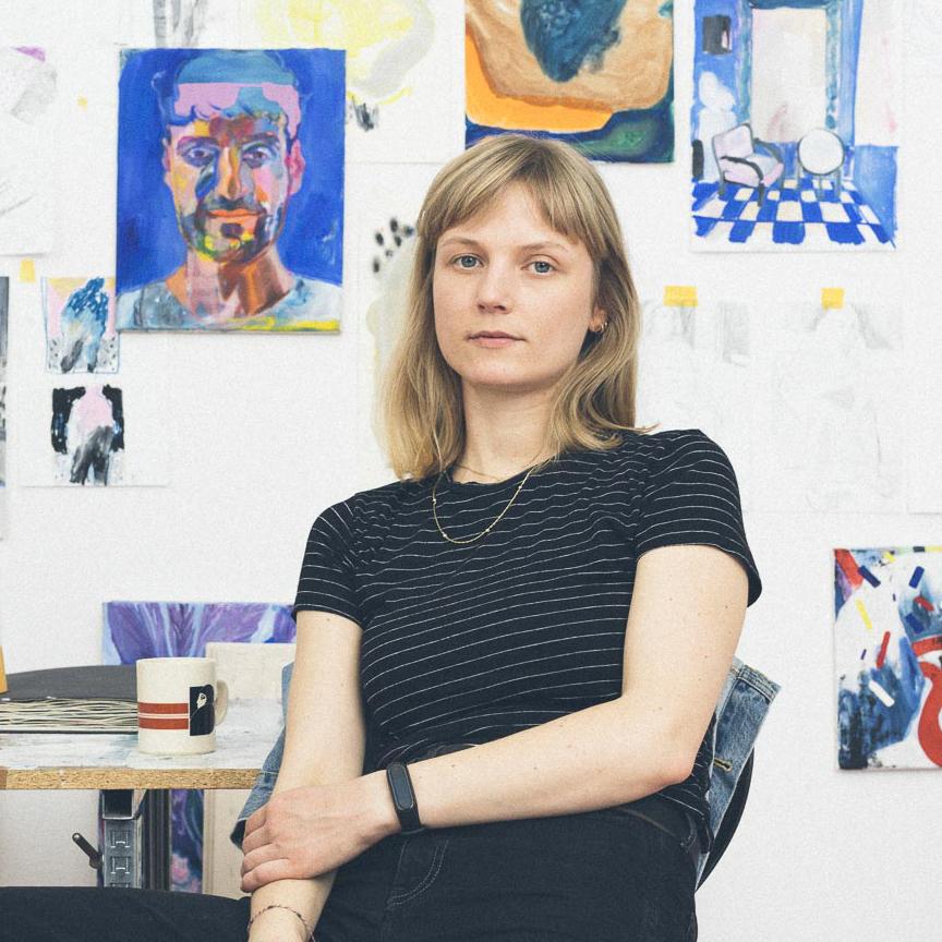 Lisa Breyer im Studio