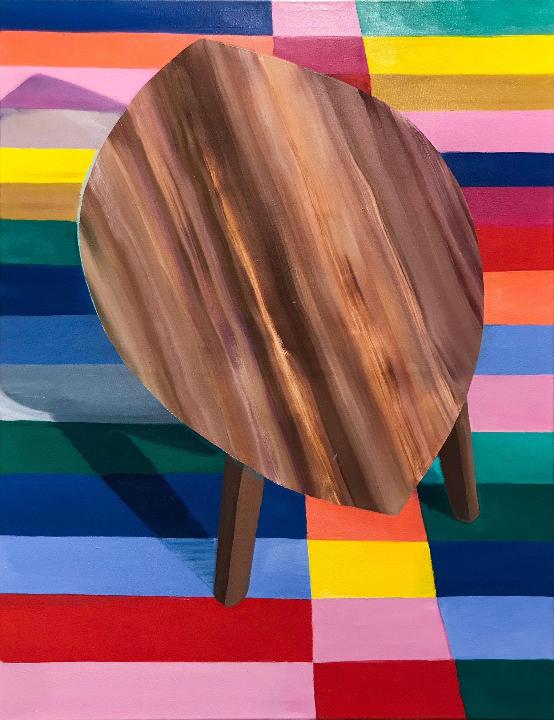 Zuhause (Vienna) 2021 oil on canvas 110x85 cm Lisa Breyer